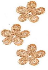 Patrón #1407: Flor a Crochet