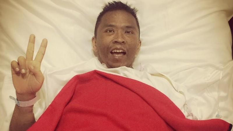 Oon Project Pop saat dirawat di rumah sakit