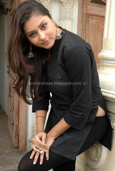 Namitha latest stills in black dress
