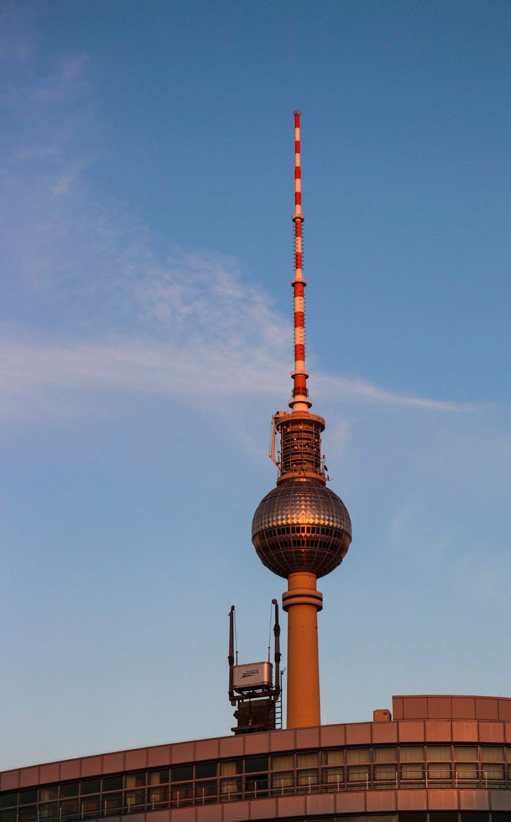 Tv tower at sunset