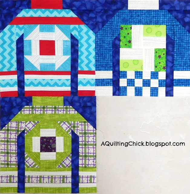 Ugly Christmas Sweaters - Week 3 blocks