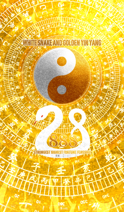 White snake and golden yin yang 8