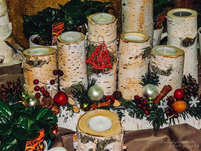 pomysł na świąteczny prezent Boże Narodzenie ręcznie robione świeczniki z drewna