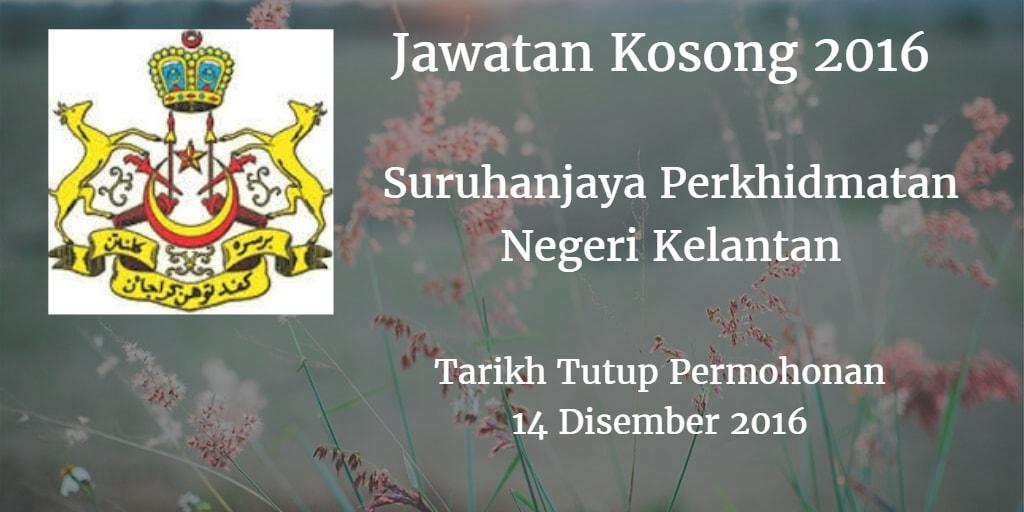 Jawatan Kosong SPN Kelantan 14 Disember 2016