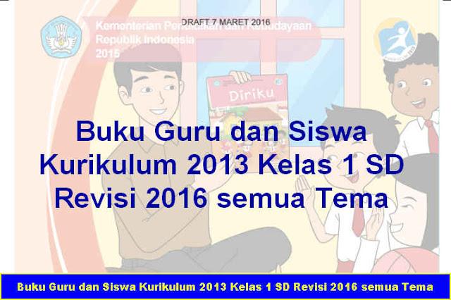 Download Gratis Buku Guru dan Siswa Kurikulum 2013 Kelas 1 SD Revisi 2016 semua Tema