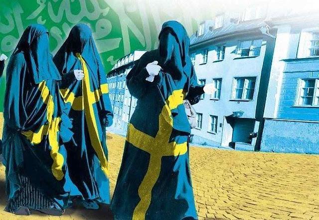 A fotomontagem revela como muitos veem o futuro da Suécia