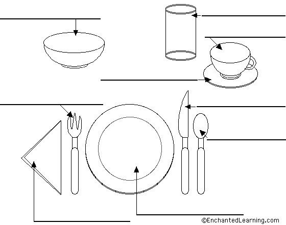 Tongue-Tried BiLinguist: Place Setting Worksheet In Spanish...