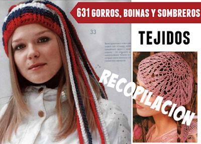 631 Gorros, boinas y sombreros tejidos