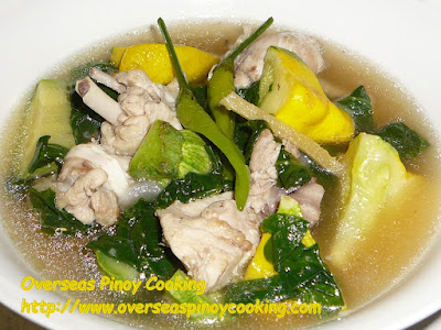Chicken Tinola with Gold Squash Recipe