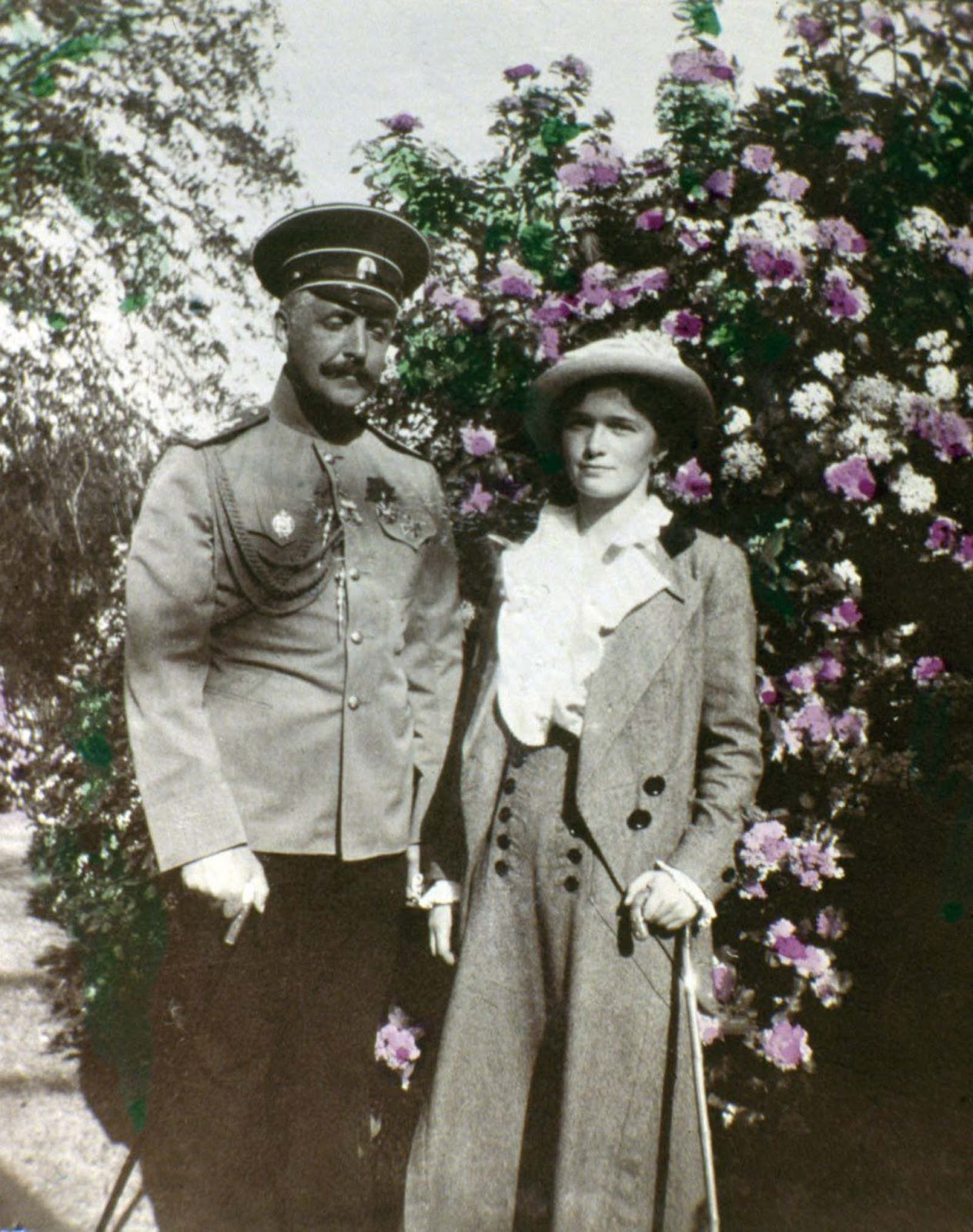 An unidentified man with Tatiana Romanov.