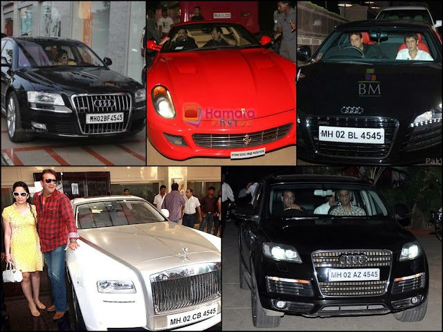 Sanjay Dutt's car with his lucky number 9