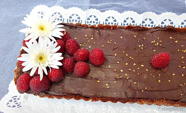 tarte ganache chocolate e frutos vermelhos