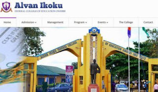 Alvan Ikoku Direct Entry Second Batch Admission List - 2017/2018