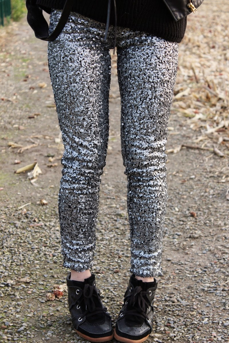 Legging sequins h&m