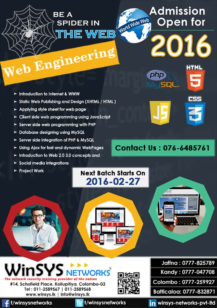 (Job oriented Training with real time projects- At the end of the course, students will have Clear understanding of the web technology and be able to architect, write, debug, and run complete web applications using  HTML, CSS, Java Script, PHP, MySQL, AJAX, )