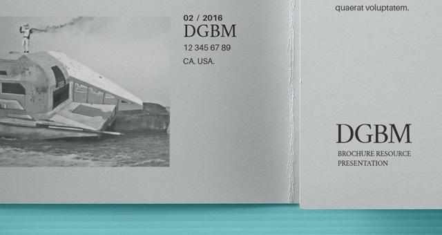 MockUp de un folleto en formato PSD