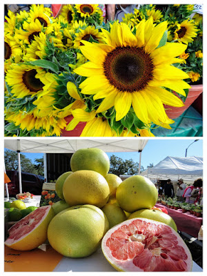 Flowers and fruit for sale at the St. Petersburg Farmers Market
