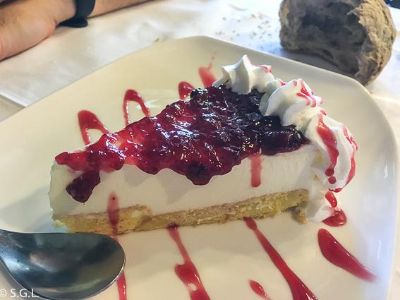 Tarta de queso restaurante La Solana en Ribadeo