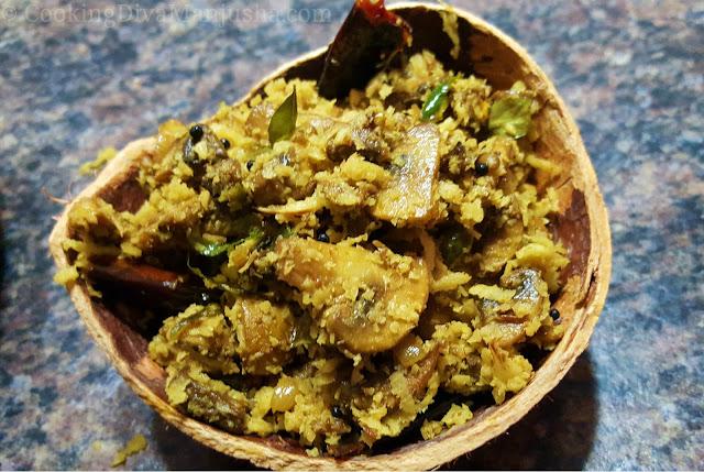 mushroom-koon-thoran-recipe