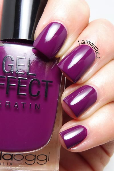 Smalto viola Bella Oggi Bitter Sangria purple nail polish #unghie #nails #bellaoggi #lightyournails