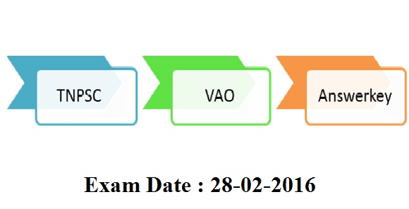 tnpsc vao 2016 exam result date news , answerkey download link