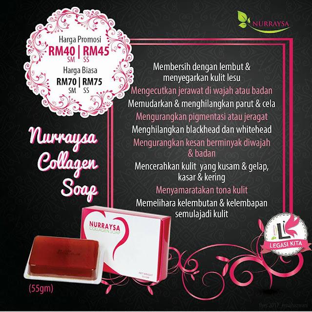 sabun collagen nurraysa