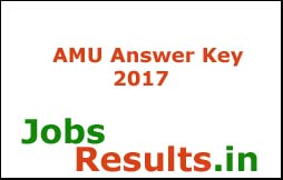 AMU Answer Key 2017