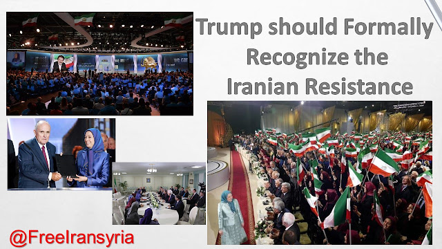Trump should Formally Recognize the Iranian Resistance