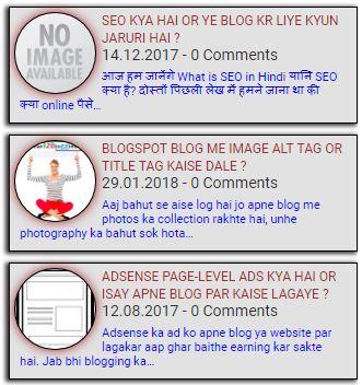 Random post widget with thumbnail style 4