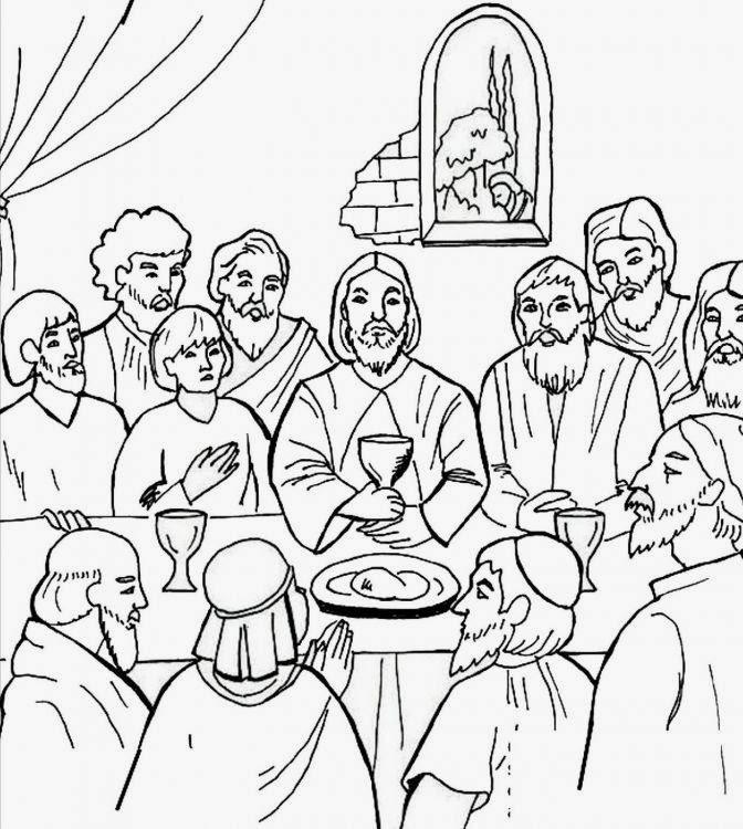 Dibujos De última Cena Para Colorear Dibujos Para Niños