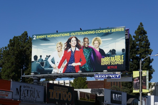 Unbreakable Kimmy Schmidt 2018 Emmy nominee billboard