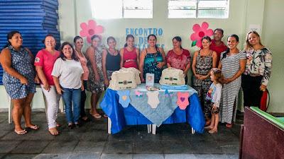Encontros de gestantes e anti-tabagismo em Iguape