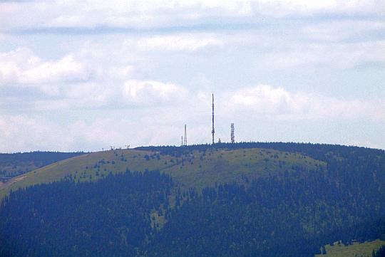 Najwyższy szczyt Małej Fatry Luczańskiej - Veľká lúka (1476 m n.p.m.).