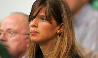 Gilles Muller Wife Alessia Fauzzi Supporting Her Husband At Tennis Match Jpeg