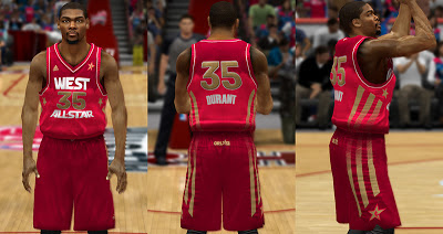NBA 2K13 West All-Stars 2012-2013 Jersey Update