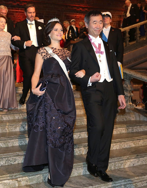 Crown Princess Victoria of Sweden and Prince Daniel, Prince Carl Philip and Princess Sofia, Princess Madeleine and Christopher O'Neill, Princess Christina attend the Nobel Prize Banquet