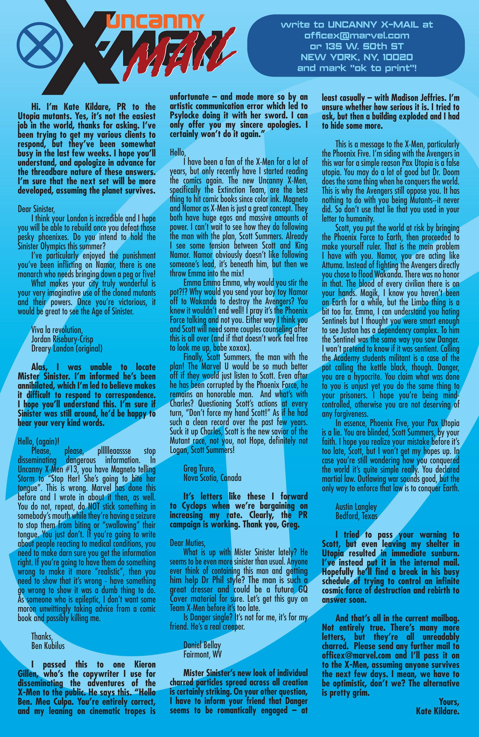 Read online Uncanny X-Men (2012) comic -  Issue #18 - 23