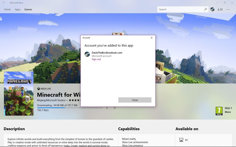 minecraft account free create