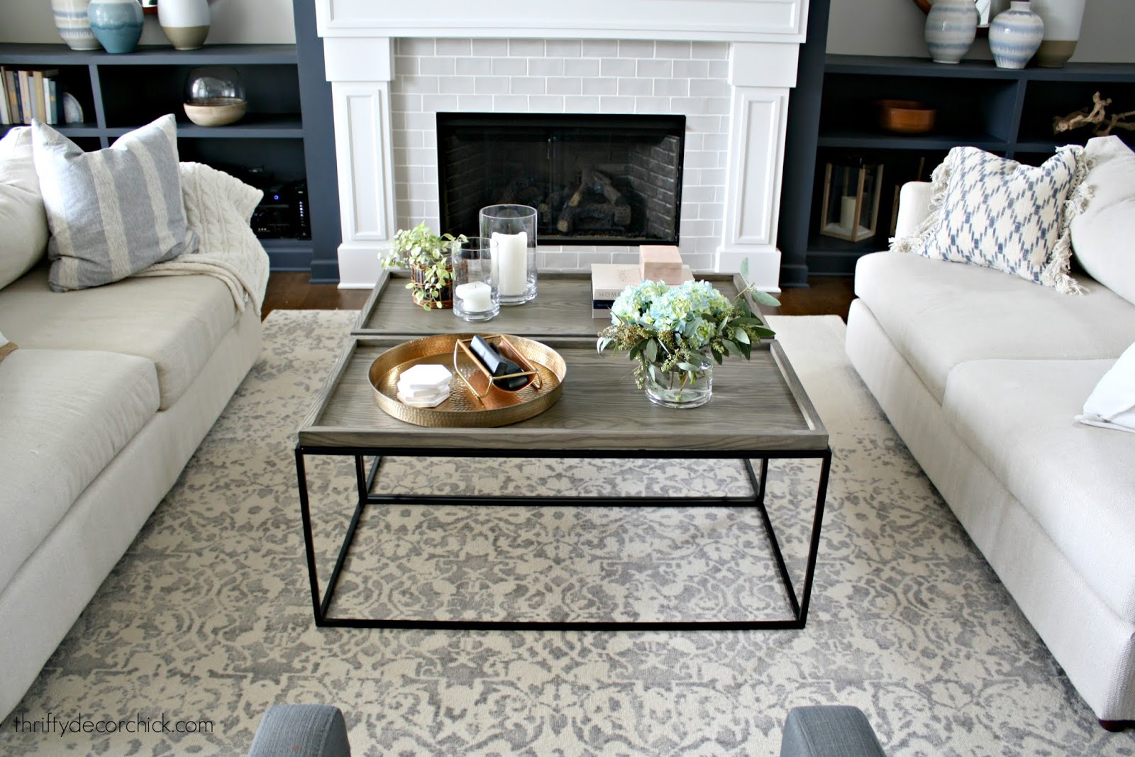 Coffee table decorating and styling