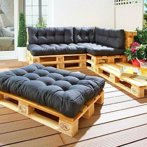 Terrace Pallet Furniture
