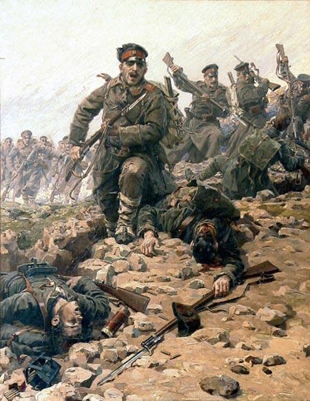 Bulgarians overrun a Turkish position at First Balkan Wars