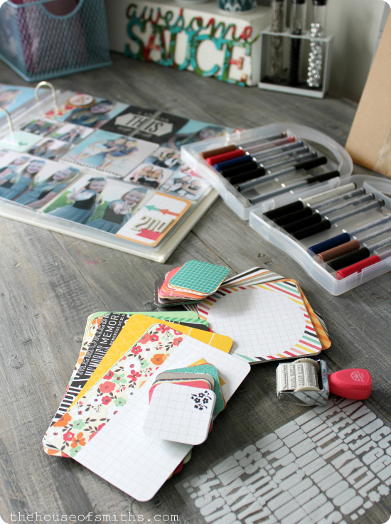 Project Life Album Assembly - Instagram Friendly kit/pages - first day of school - thehouseofsmiths.com
