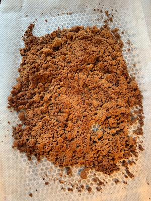 pâte à crumble , sans gluten , cassonade , farine de sarrasin