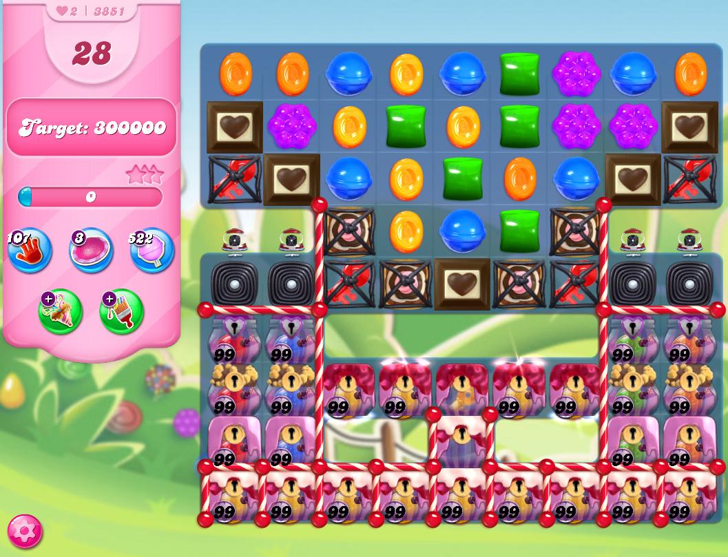 Candy Crush Saga level 3851
