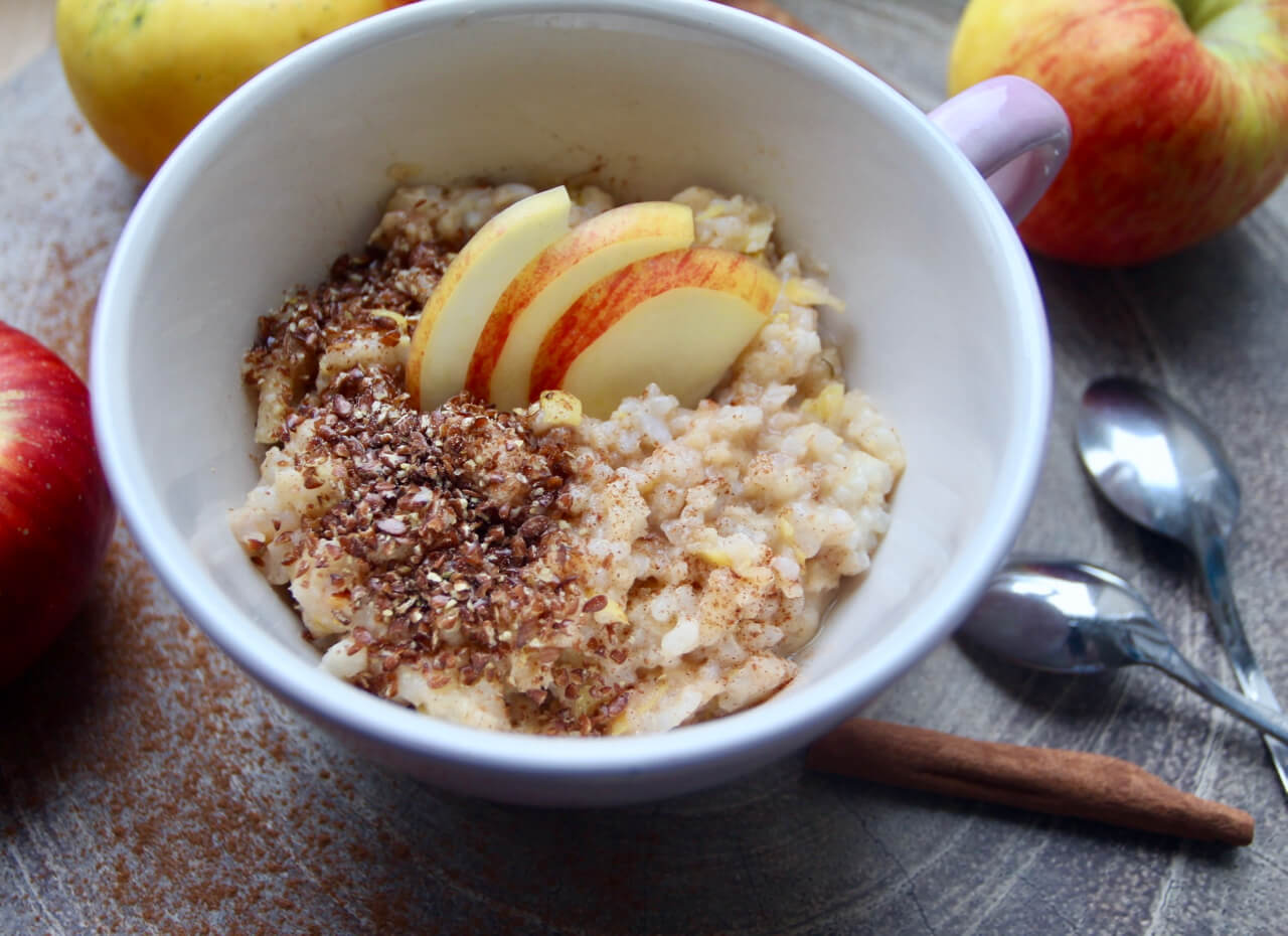 Apfelstrudelmilchreis