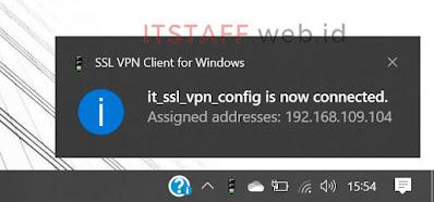 Login Sucess Sophos SSL VPN Client - ITSTAFF.web.id