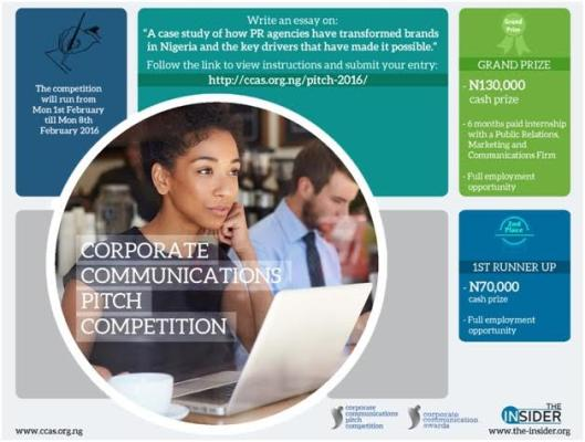 Corporate Communications Pitch Competition; Call for entries