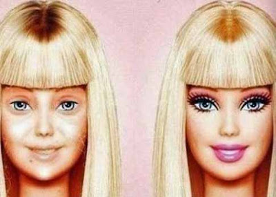 Frauenkosmetik schminken Beispiel vorher nachher Bilder