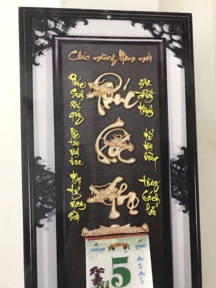 269k - Lịch gỗ in 4D Phúc Lộc Thọ giá sỉ và lẻ rẻ nhất