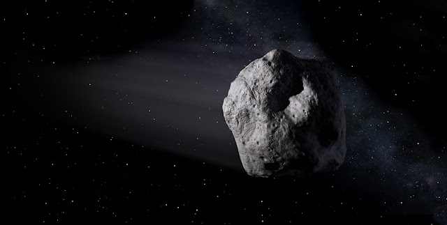 Artist's depiction of a near-Earth asteroid. Image Credit NASA